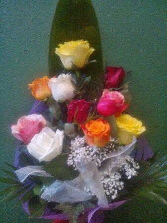 10 szál rózsa vegyesen