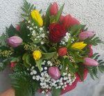 rózsa a tulipánok között