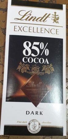 Lindt 85 %os étcsoki 100 g.