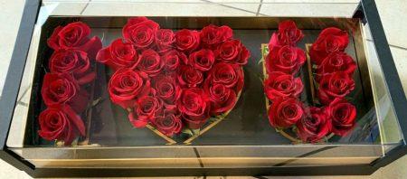 I LOVE YOU rózsadoboz