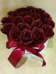 Szappan rózsa box bordó színű (Bp.-re és Pest megyébe rendelhető!)