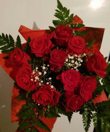 Szerelmes üzenet (11 szálas rózsacsokor)