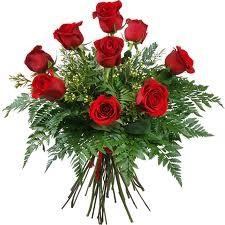 9 szálas rózsacsokor