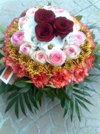 Biedermeier virágtál