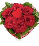 Szív a szívben rózsacsokor